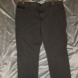 Calvin Klein gray stretch pant, size 16